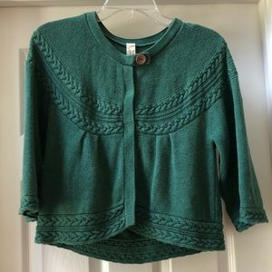Vintage Fossil cable green sweater. Size M